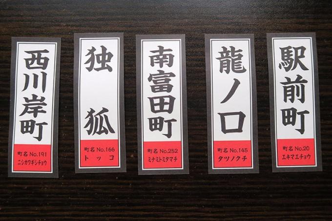 裏には弘前の町名