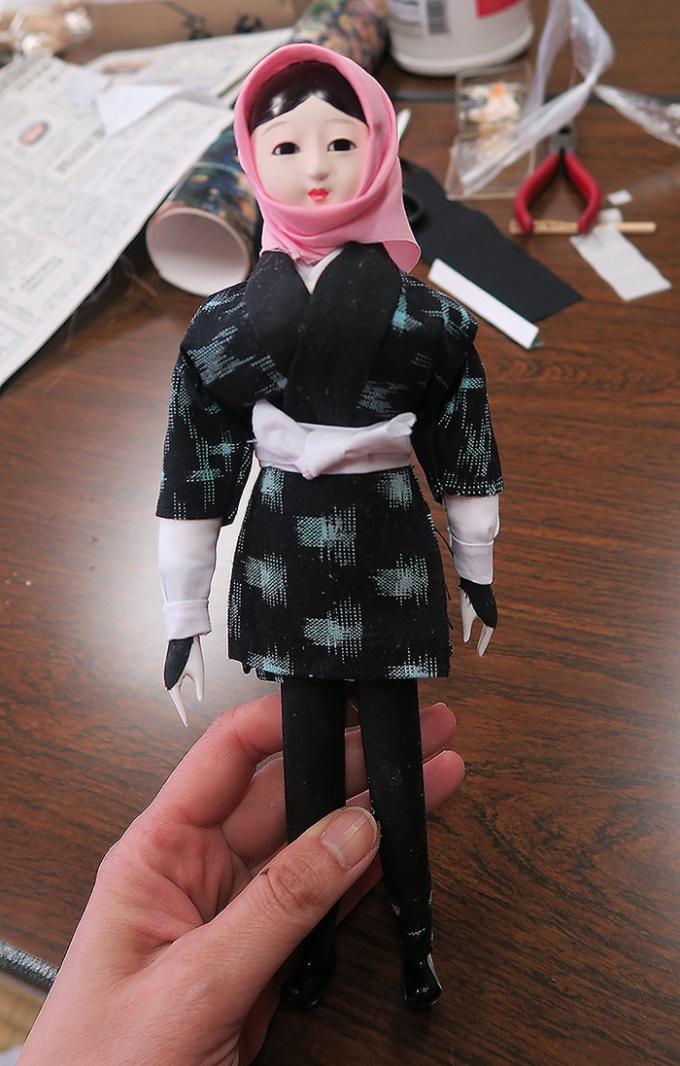 さいとうが制作した目屋人形