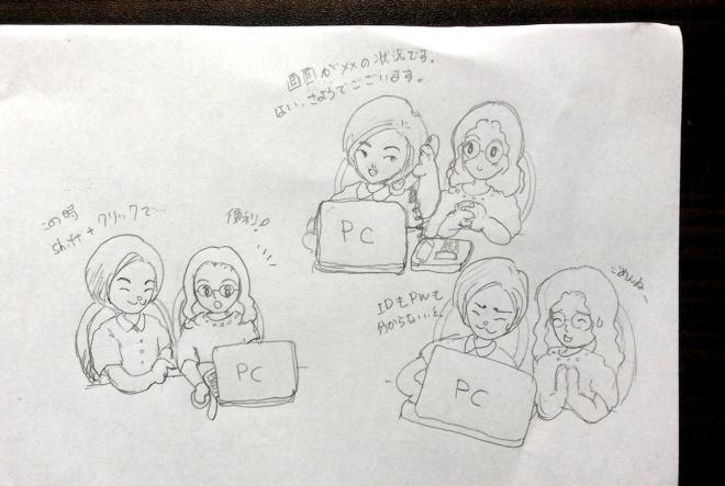 シャープペンで描いた下書きをiPadで撮影