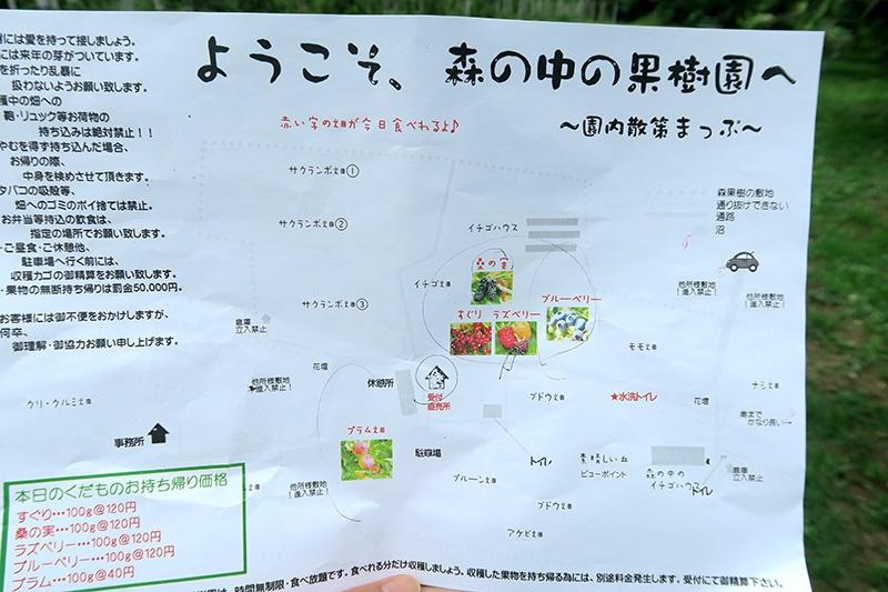 7月下旬の果物MAP