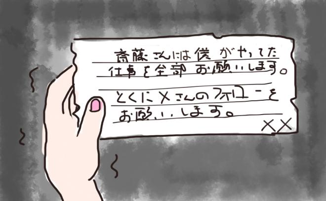 A氏からの手紙(イメージ図)