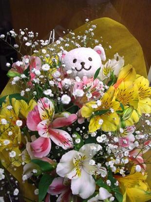 公演後にいただいた花束