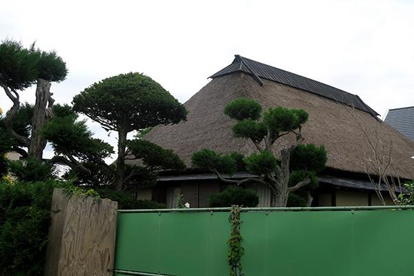 茅葺き屋根の住宅