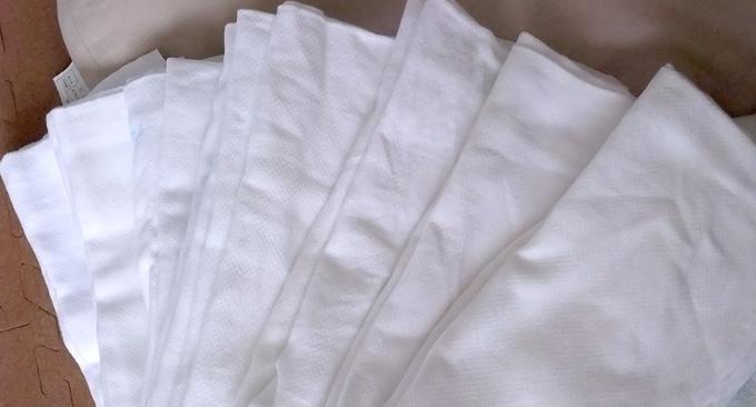 ふわふわに白く洗い上がった……