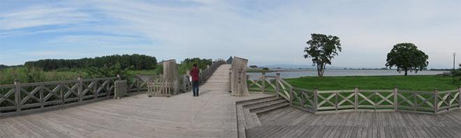 鶴の舞橋(合成パノラマ写真)