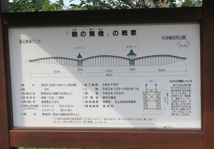 鶴の舞橋の説明書き