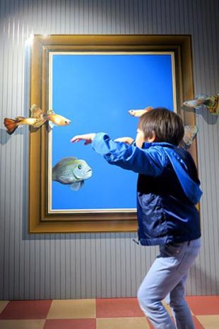 魚とただよう息子
