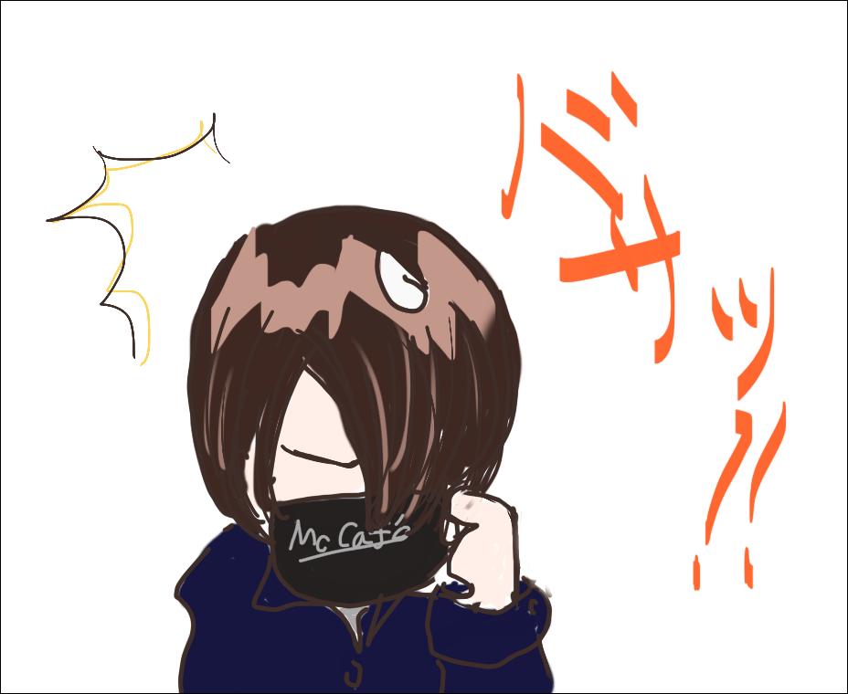(あ、左手持ちに描いちゃった)
