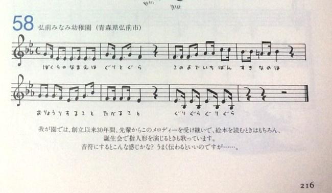 弘前みなみ幼稚園から寄せられた楽譜も!