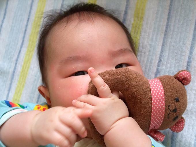 保育園入園当時の息子(0歳4ヵ月)
