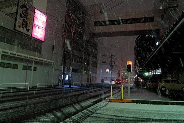 ヒロロの外に出たら雪でした