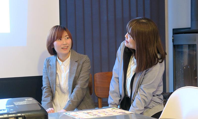 左)岡詩子さん、右)太田絵里子さん