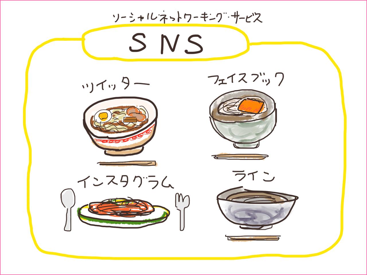 (4)SNSです