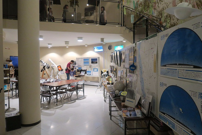 ロマントピア天文台1階の展示