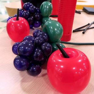 ブドウとリンゴ