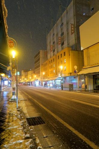 土手町は雪景色