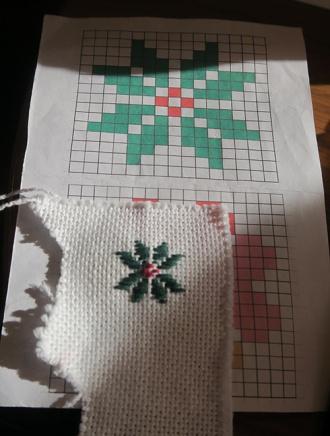 わたしはクリスマスぽい図案を一つ
