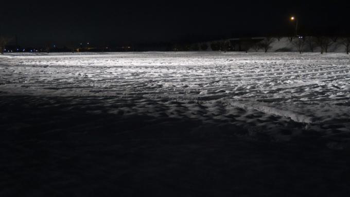 平地から見たスノーアート