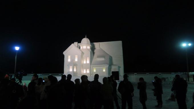 藤田記念庭園洋館の大雪像
