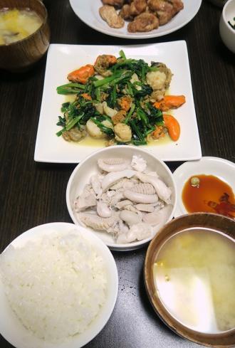 海産物多めの食卓