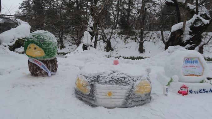 警察署作成の雪像