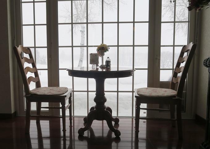 窓辺の2人席