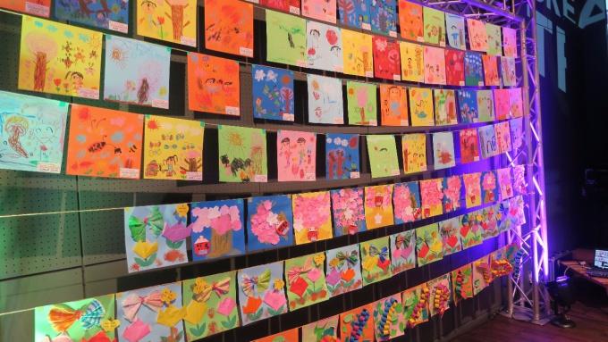 クリエイターズトレインで展示されていた保育園児の作品