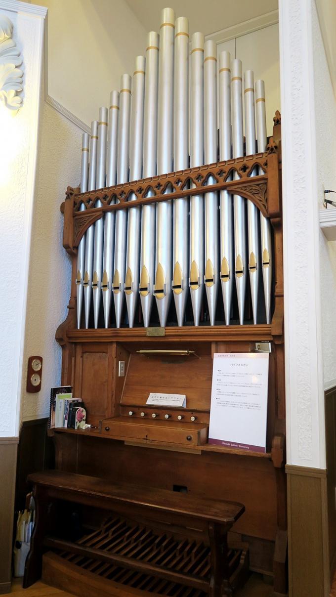 1880年製作のパイプオルガン