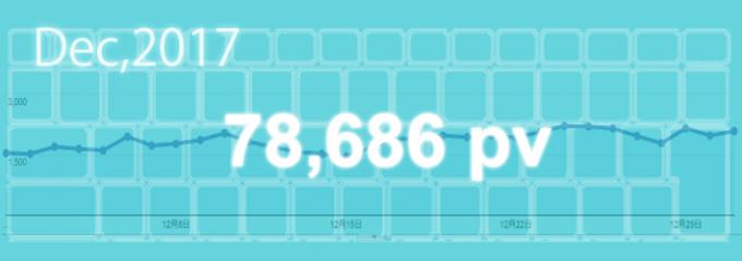 2017年12月は78,686pv