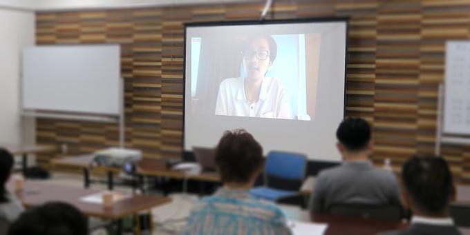発起人小幡和輝さんの動画中継
