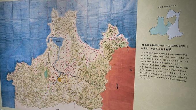約400年前に描かれた津軽藩の地図