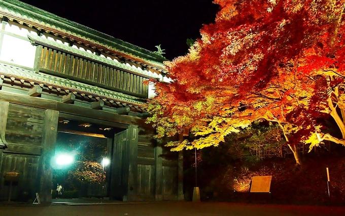 杉の大橋を渡り南内門前