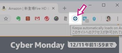 Chromeの拡張機能に入れたところ