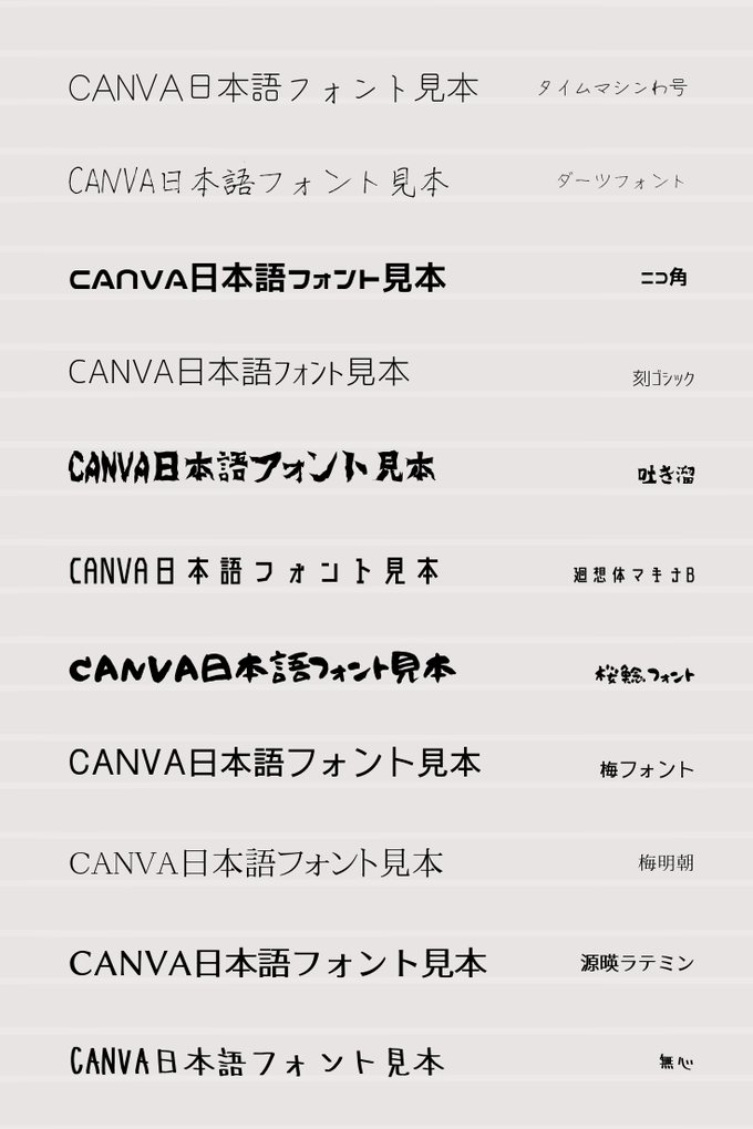 Canva日本語フォント一覧⑥