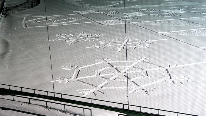 手前側に雪の結晶が増えていました