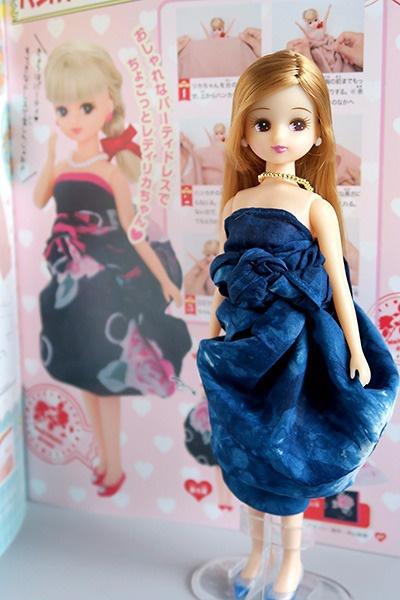ハンカチまきまきドレス