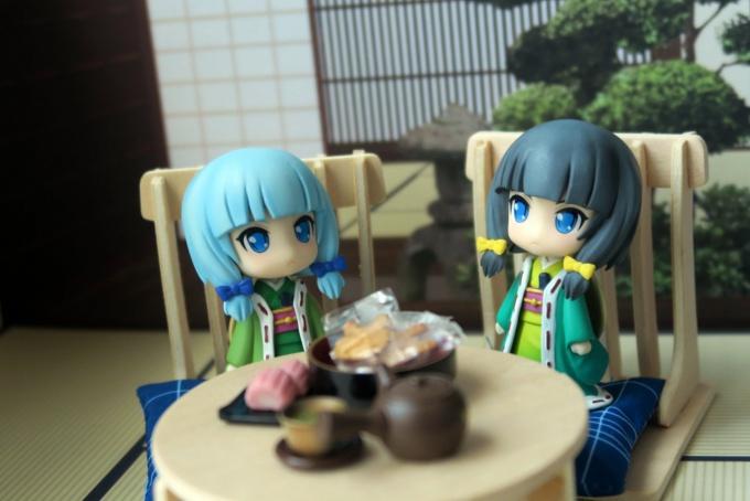 和室でくつろぐいち姫&いち子