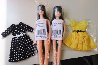 お人形教室ジェニー(髪色312番)とリカちゃん(髪色9601番)