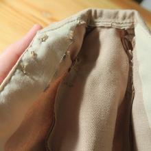 見返しは薄い木綿