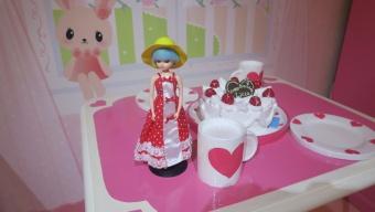 バースディケーキとリカちゃん