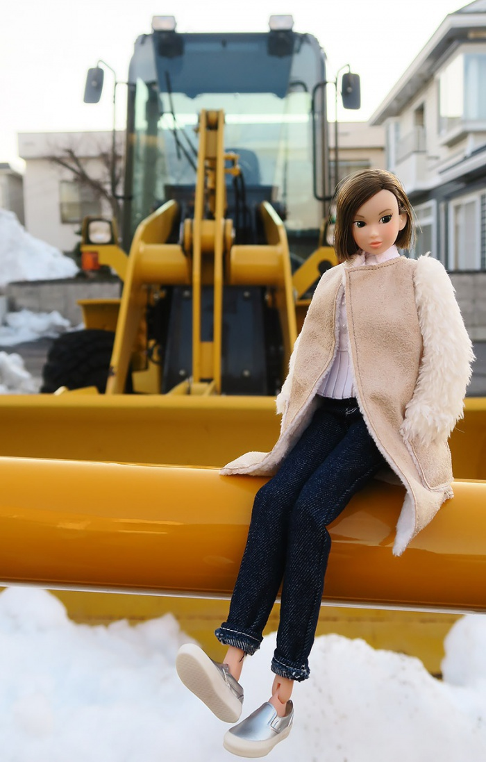 除雪車とmomoko