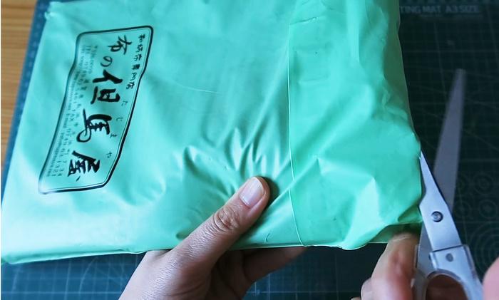 布の但馬屋さんのビニール封筒
