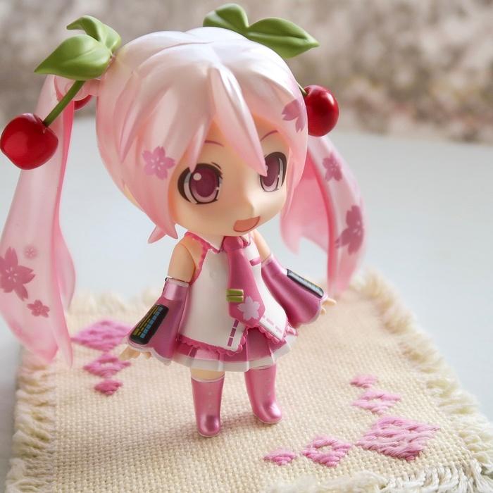桜ミク on こぎん刺し