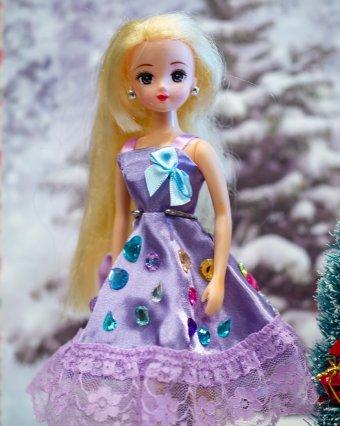 パープルのドレス(Nさん・6歳)