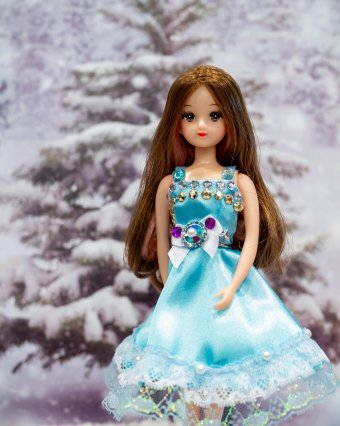ブルーのドレス(Eさん・11歳)