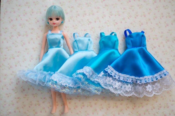 ブルー系ドレス4着