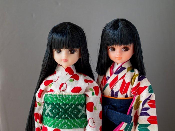 お人形教室リカちゃん黒髪ペア